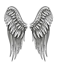 Angle Wing Tattoos, Wing Tattoos On Back, Angel Wings Tattoo On Back, Angel Wings Drawing, Angel Wings Art, Ange Tattoo, Diy Tattoo, Tattoo Art, Tattoo Ideas