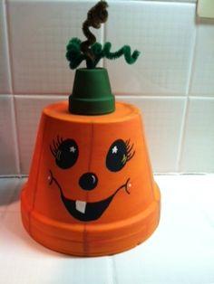Lil Clay Pot Pumpkin!