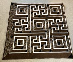 Labyrinth quilt 6 feet x 6 feet machine quilted letters and date monogram can be added at buyer cost by GeeGeeGoGo on Etsy Embroidered Baby Blankets, Embroidered Gifts, Tree Curtains, I Love Mommy, Bachelorette Gifts, Different Holidays, Quilts For Sale, Custom Quilts, Monogram Letters