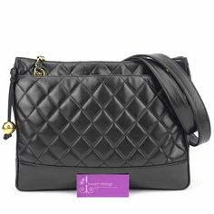 CHANEL Vintage Tote Black Colour Lambskin With Gold Hardware Fair Condition Ref.code-(BVEOY-1)