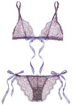 6181aa58cb264 Valentine s Day Lingerie  Hanky Panky ribbon tie bralette  amp  bikini  Gorgeous Lingerie