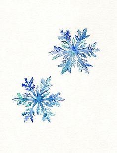 watercolour snowflakes