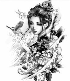 Geisha tattoo: Beautiful inspirations for your tattoo - - . - Geisha tattoo: Beautiful inspirations for your tattoo – – # Inspirations - Tatoo Geisha, Geisha Tattoo Design, Geisha Tattoos, Japan Tattoo Design, Geisha Art, Geisha Drawing, Japanese Girl Tattoo, Japanese Tattoo Designs, Japanese Sleeve Tattoos