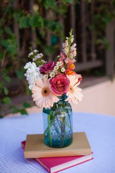 The combination of Rustic and Library Inspiration created this Cocktail Table Decor #LibraryWedding. cute