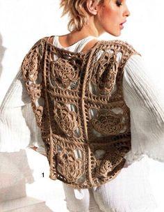 Crochet vest / Chaleco en ganchillo