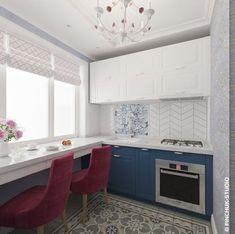 Дизайн маленькой кухни в скандинавском стиле от Ст...