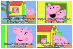 Note: Mommy Pig thought this was hilarious, so basically, her savagery cannot be stopped. pig meme hilarious 17 Times Peppa Pig Was Just An Absolute Savage Peppa Pig Funny, Peppa Pig Memes, Stupid Funny Memes, Funny Relatable Memes, Hilarious, Daddy, Pig Roast, Pig Party, Pigs