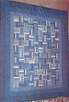 Image result for Blue Fence Rail Quilt Pattern
