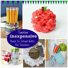 Huckleberry Love: 12 Inexpensive Back to School Teacher Gifts {Round Up} Back To School Teacher, Back To School Gifts, Family Christmas Gifts, Gifts For Family, Diy Projects To Try, Crafts To Make, Teacher Aide Gifts, Craft Gifts, Diy Gifts