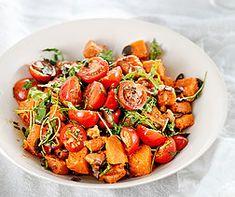 Tomaten auf Kürbissalat Spaghetti, Kung Pao Chicken, Ratatouille, Pasta Salad, Vegan, Dinner, Ethnic Recipes, Food Ideas, Mad