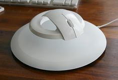 Kibardindesign - levitating wireless computer mouse. The Bat is a set that consists of a base - mouse pad and floating mouse with magnet ring .