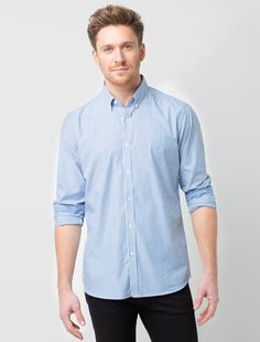 29f8631d15 Men s Blue Stripe Business Shirt