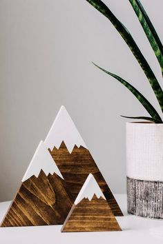 Wooden Mountains, Mountain Decor, Nursery Decor, Rustic Wedding Decoration, Baby Shower Gift … – The Best Ideas Rustic Nursery Decor, Wooden Decor, Rustic Decor, Baby Decor, Woodland Nursery, Rustic Signs, Rustic Wood, Diy Wood Projects, Wood Crafts