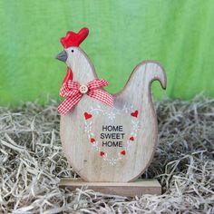 """Κότα """"Home sweet home"""" ξύλινη, ύψους 23cm. Ξύλινο διακοσμητικό, κατάλληλο για τον πασχαλινό και ανοιξιάτικο στολισμό του σπιτιού ή του επαγγελματικού σας χώρου #πασχαλινα #διακοσμησητικα #ManolasDeco"""