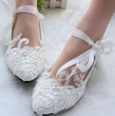 Flats S Quality Womens Directly From China Shoe Head Suppliers New 2017 Fashion Spring And Autumn Handmade Ivory White Lace Wedding