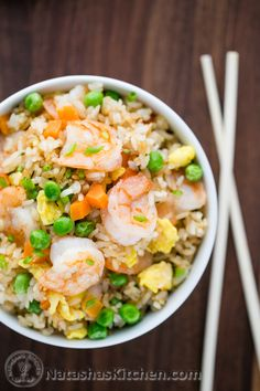 Shrimp Fried Rice. This homemade version is so much healthier, cheaper and tastes better!