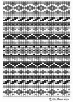 fair isle pattern - beautiful as an embroidery pattern too. border ideas for fair isle designs Fair Isle Knitting Patterns, Knitting Blogs, Knitting Charts, Knitting Stitches, Knitting Projects, Knitting Sweaters, Knitting Ideas, Free Knitting, Crochet Chart