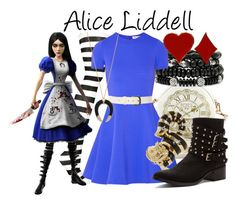 """""""Alice Liddell"""" by fofandoms ❤ liked on Polyvore featuring Mixit, Opening Ceremony, Penny Loves Kenny, Wet Seal and Alexis Bittar"""