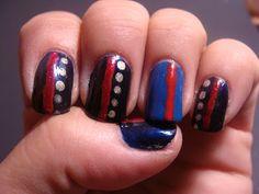 dress blues, nail art