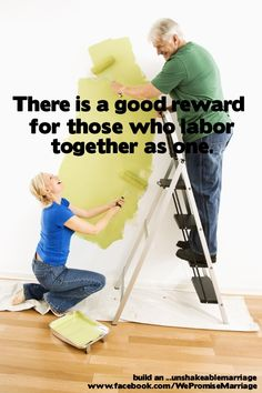 """Today as we honor """"laborers""""; let's remember what the Bible has to say in Ecc. 4:9.  This is a great promise that can be obtained as husband and wife!"""