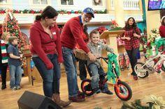 Pastor Jim giving away a bicycle!