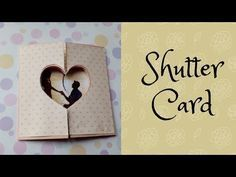 Shutter Card Tutorial with 2 hidden pictures 😱 Homemade Anniversary Cards, Diy Anniversary Gifts For Him, Anniversary Cards For Boyfriend, Anniversary Crafts, Anniversary Greeting Cards, Aniversary Cards, Wedding Cards Handmade, Greeting Cards Handmade, Tarjetas Diy