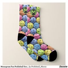 Monogram Fun Pickleball Socks