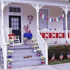 Front Porch Fourth Of July Decorating Cheap Fourth Of July Decorating Ideas
