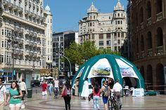 Carpa informativa dentro de la acción de Street Marketing realizada en Valencia para el Patronato Povincial de Turismo de Castellón