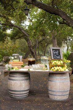 A vintage inspired Santa Barbara wedding, complete with a wine barrel lemonade stand