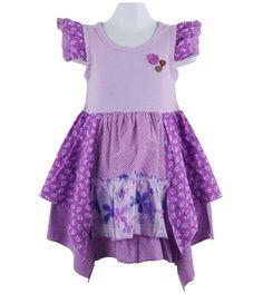 print trimmed handkerchief dress by naartjie kids