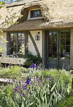 Cottage - thatched roof - garden