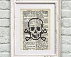 Poster Página De Dicionário Skull