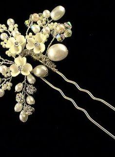Bridal hair pin. Swarovski crystal. Hair do. Fascinator. Pea,  Accessory, bridal hair pin swarovski crystal.wedding, Chic