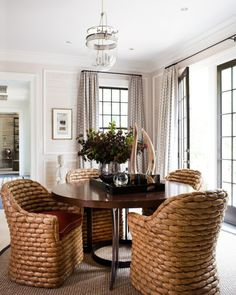 Amazing Greenwich for a Transitional Dining Room by Thom Filicia Inc. Dining Room Design, Dining Area, Small Dining, Round Dining, Fine Dining, Living Room Chairs, Dining Rooms, Come Undone, Dining Room Inspiration