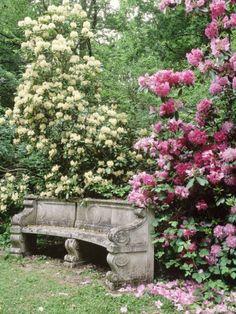 Stone Garden Seat for English style gardens.