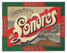 Napoli - Grand Hotel de Londres by Luggage Labels
