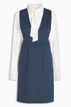 Buy Navy Pinafore Dress from the Next UK online shop