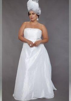 tafetán vestidos de novia tallas grandes