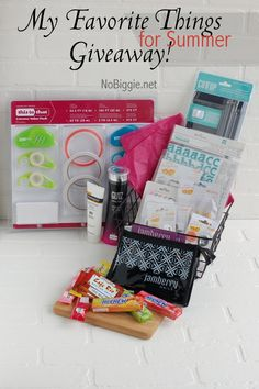 favorite things for summer giveaway NoBiggie.net