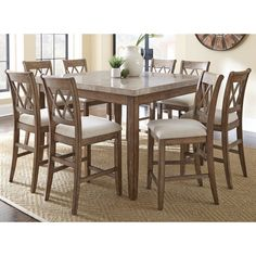 Greyson Living Fulham Counter Height Dining Set   17854788   Overstock    Big Discounts On Greyson Living Dining Sets   Mobile