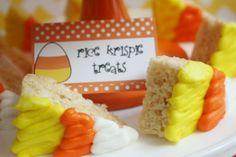 The Party Wagon - Blog - CANDY CORN Rice Krispy treats