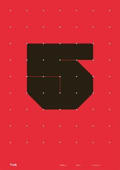 Truth year 5 by Wim Crouwel —@Mark Van Der Voort Van Der Voort Kerr Krynne ChocolateFountains 2 years ago— typography,poster,red,graphic design,Wim Crouwel