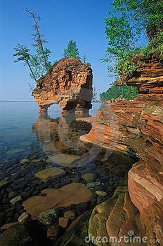 Apostle Islands National Lake-Shore - Wisconsin. The very best place to strap camping gear to your kayak and get lost for a few days.