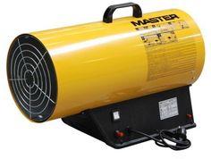 Modelo: BLP 53M  Tipo: Aquecimento directo  Ignição: manual  Pressão: 0,75-1,5 bar  Capacidade máx.: 53 kW - 45.600 kcal/h  Capacidade min.: 36 kW - 31.000 kcal/h  Consumo gás: 3,78 kg/h  Deslocamento ar: 1.450 m3/h  Tensão: 230 V/ 50 Hz  Potência do motor: 0,48 A  Termóstato: não aplicável  Peso: 12,5 kg Marca: Master
