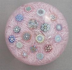 Peter McDougall Complex Cane on Lace Paperweight