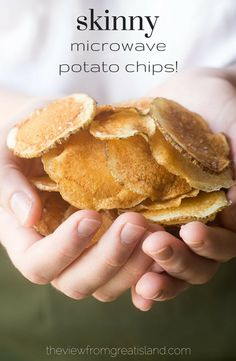 Skinny Microwave Potato Chips will change your snacking life!