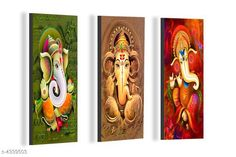 Paintings & Posters Attractive Trendy Wall Posters  Material: MDF  Size- (L X W ): 36 cm X 45 cm Description: It Has 3 Pieces Of Wall Poster Work: Printed Country of Origin: India Sizes Available: Free Size   Catalog Rating: ★4.1 (3962)  Catalog Name: Navratri Multicolor Attractive Trendy Wall Posters Vol 5 CatalogID_622663 C127-SC1611 Code: 181-4339503-492