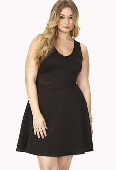 Subtle Glam Scuba Knit Dress | FOREVER21 - sizes XL to 3X