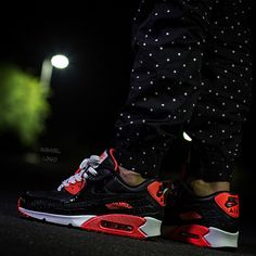 Laced Up Laces | Air Max 90 Croc Infrared by @ gabriel_lokko | White Infrared Laces | Only on www.laceduplaces.com